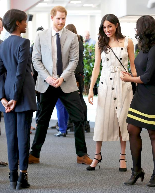Slide 21 of 21: She's a pro! Markle gave a masterclass in daytime formalwear in April at the Commonwealth Youth Forum.