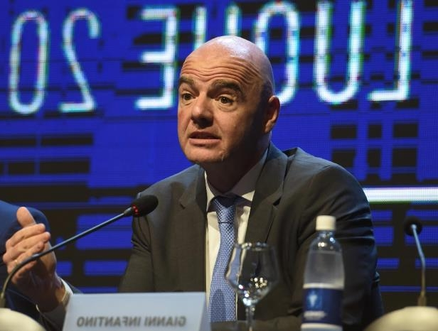 FIFA President Gianni Infantino, pictured on May 11, 2018, is pushing to revamp the Club World Cup, boosting it from seven clubs to 24 in a four-year format