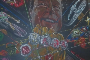 Nick Saban Rules College Football Universe as Thanos in Mural Form