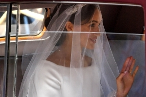 Meghan Markle Wears Givenchy Dress At Chapel Wedding
