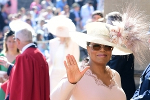 OPRAH IS IN THE ROYAL WEDDING BUILDING