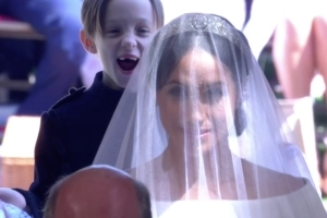 Royal Wedding: Gleeful Pageboy Steals The Show During Meghan's Big Entrance