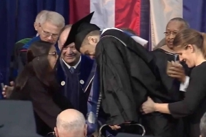 Watch: Georgetown LB Ty Williams Walks For First Time at Graduation After 2015 Neck Injury