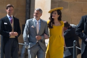 George Clooney danced with Meghan Markle at her wedding reception