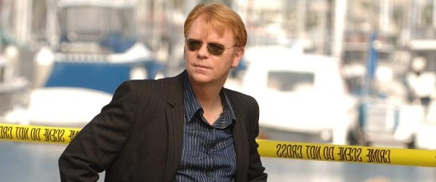 David Caruso wearing sunglasses