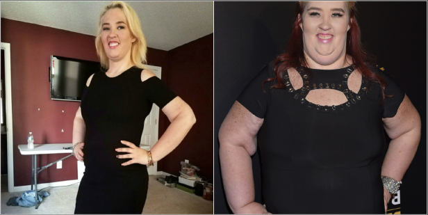 a man and a woman posing for a picture: Mama June Struggles With Weight Gain