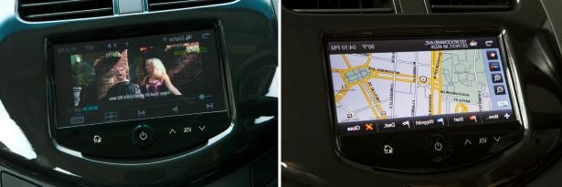 a screen shot of a video game: The 2013 Chevrolet Spark comes equipped with a full-color, seven-inch touch screen radio that features the new MyLink infotainment system.