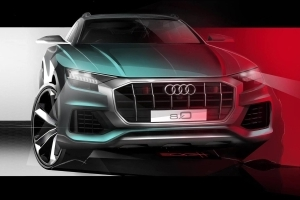 Audi Q8 official teaser reveals aggressive front end