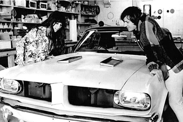 Slide 12 of 26: sonny-cher-ford-mustang-barris-shop.jpg