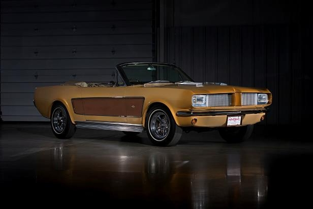 Slide 13 of 26: sonny-cher-ford-mustang-front-quarter-brown.jpg