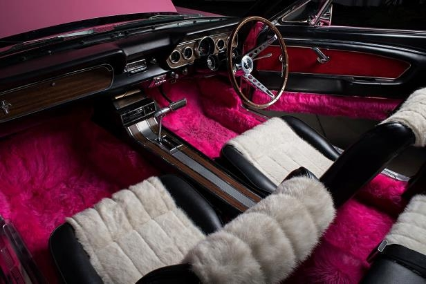 Slide 16 of 26: sonny-cher-ford-mustang-interior.jpg