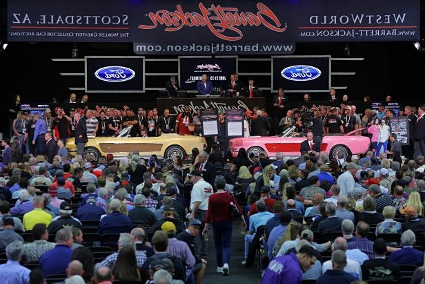 Slide 17 of 26: sonny-cher-ford-mustang-barrett-jackson-stage.jpg
