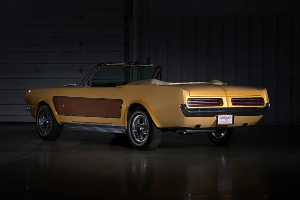 Slide 23 of 26: sonny-cher-ford-mustang-rear-quarter-brown.jpg