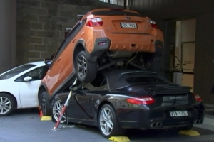 Valet Wedges Porsche 911 Under Subaru, Creates Tower Of Boxer Engines