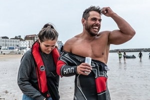British adventurer, 32, sets off on world-first 2,000-mile swim around the UK in epic 100-day challenge