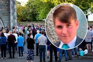 Priest at funeral of murdered Cameron Reilly calls on local youths to 'reflect' on events