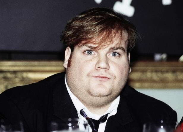 FILE - In this Sept. 18, 1990, file photo, comedian Chris Farley, a new cast member of NBC's