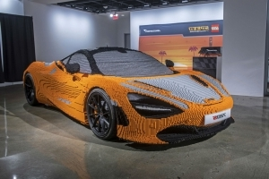 Full-size LEGO McLaren 720S on Display at Petersen Automotive Museum