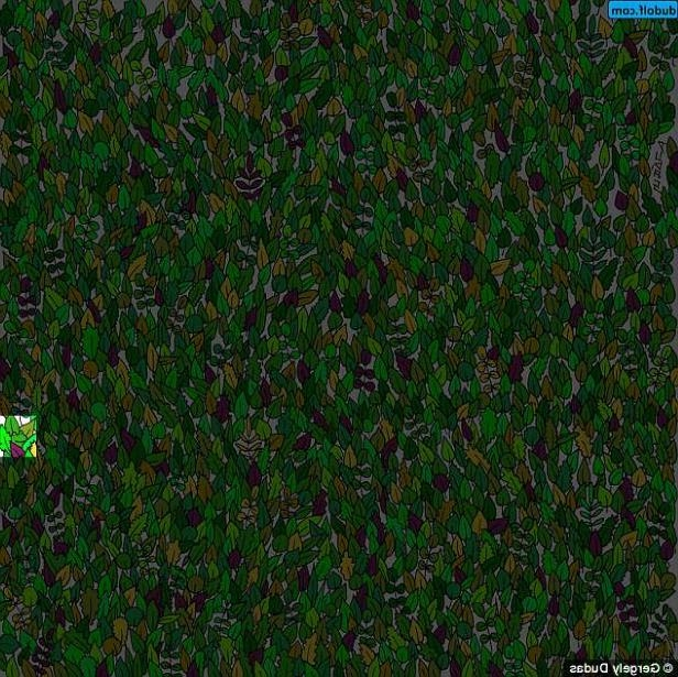 a close up of green grass: Eagle-eyed players should be able to spot the creature in the lower right hand side of the picture - but players say this is his hardest challenge yet