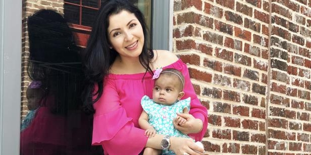 Analy Navarro's daughter Julia is thriving because Analy donated part of her liver to her daughter.Analy Navarro's daughter Julia is thriving because Analy donated part of her liver to her daughter.