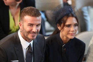 David and Victoria Beckham selling off royal wedding outfits