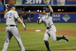 Brett Gardner hits go-ahead home run off of Jacob deGrom to lift Yankees over Mets in Subway Series opener