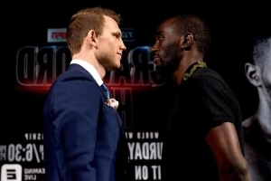Horn makes weight on second try ahead title defence against Crawford
