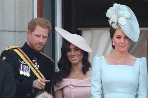 Meghan Markle Joins Prince Harry, Kate Middleton, and the Full Royal Family for Her First Trooping the Colour Balcony Appearance
