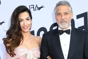 George Clooney Shows Off Pics of His Twins, Jokes They're Like Models