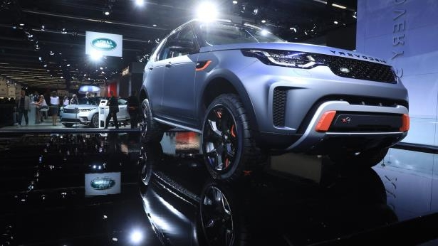 A Land Rover Discovery sports utility vehicle: The 67th IAA Frankfurt Automobile Show Day 1