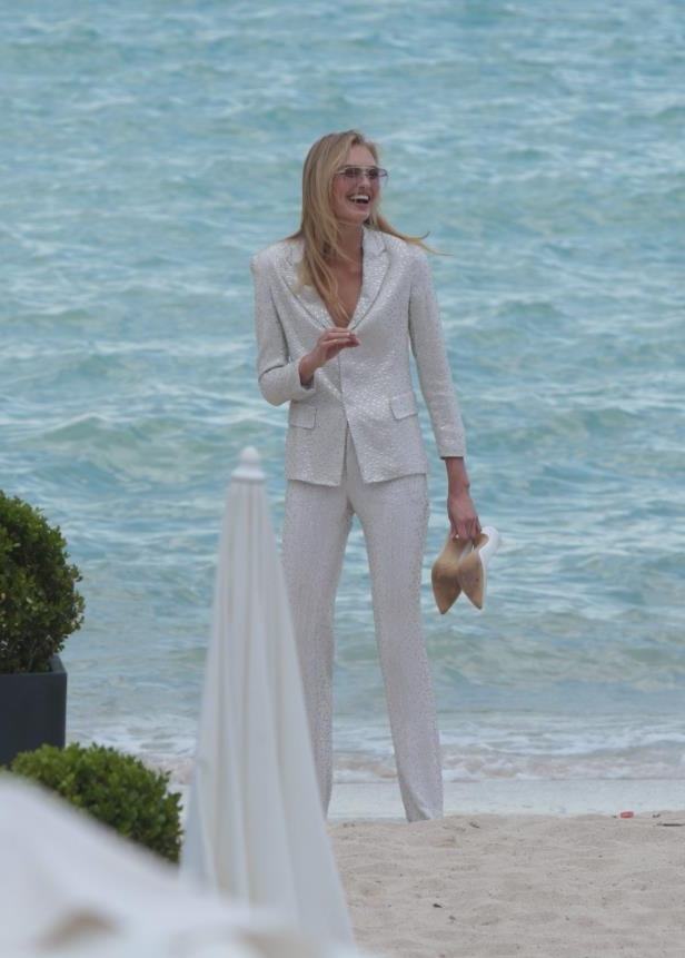 Slide 13 of 67: Romee Strijd looked lovely in all-white on the beach in Cannes, France, on May 8.