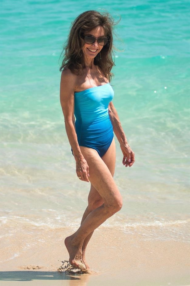 Slide 47 of 67: Susan Lucci, 71, looked amazing as she hit the beach in Barbados on Feb. 15.