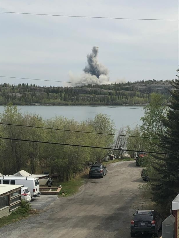 a bridge over a river: Saturday's planned blast in Yellowknife registered on seismic sensors as 1.4 magnitude on the Richter scale, the same size as a micro-earthquake.
