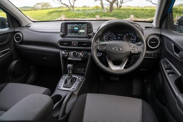 a car parked in a parking lot: 2018 Hyundai Kona Interior