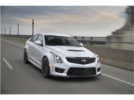 a car parked on the side of a road: 2018 Cadillac ATS