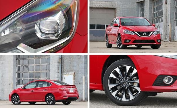 a red car parked on the side of a road: Nissan Sentra SR Turbo Tested: A Sentra Intelligence Dossier