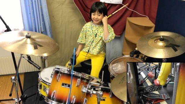 eight year old drummer led zeppelin cover