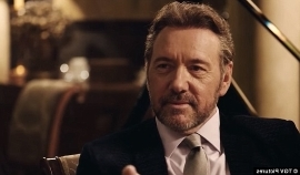 Kevin Spacey wearing a suit and tie: He's back: Kevin Spacey has not appeared in any films or television shows since he was accused of raping and sexually assaulting young and minor men (Spacey above in Billionaire Boy's Club)