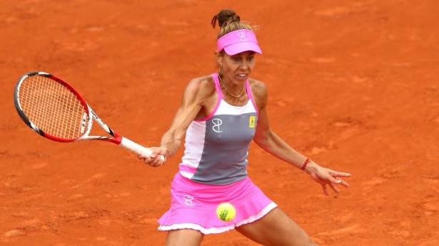 mihaelabuzarnescu - cropped: Mihaela Buzarnescu in action at the French Open