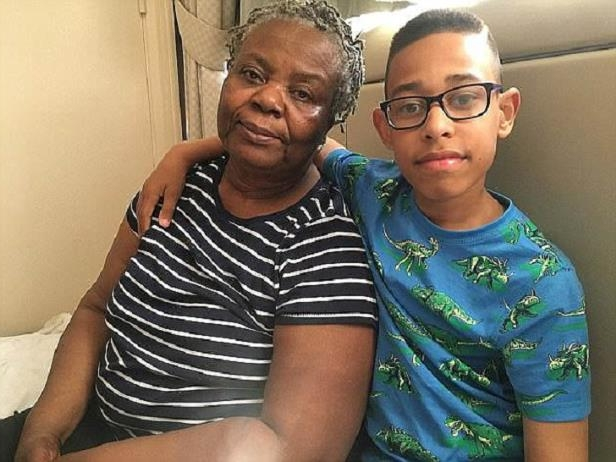 Rukayetu Mamudu, 70, and her grandson Tyrshondre, then 12, were some of the first survivors to escape the Grenfell fire in the early hours of June 14