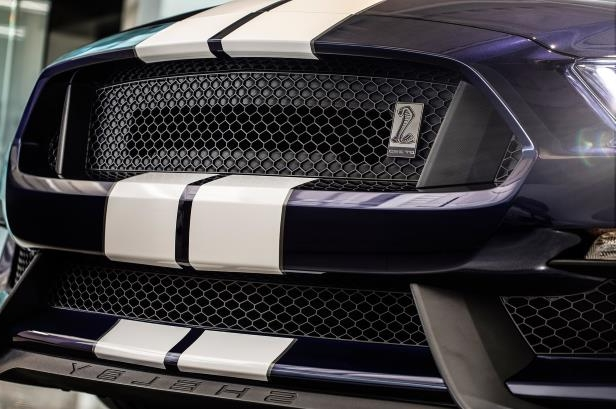 Slide 1 of 4: 2019-Ford-Mustang-Shelby-GT350-front-grille-1.jpg