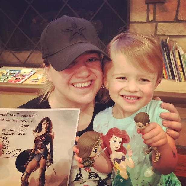 Slide 2 of 24: Yes, we're totally envious of River Rose, who scored a super-cool bundle of Wonder Woman gifts from Gal Gadot.