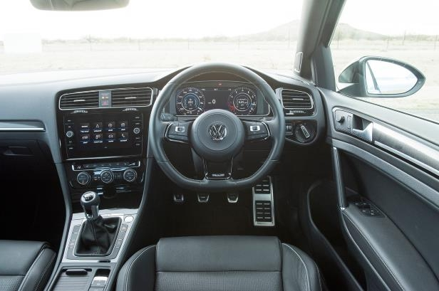 Slide 3 of 94: 2018-Volkswagen-Golf-R-interior-driver-seat.jpg
