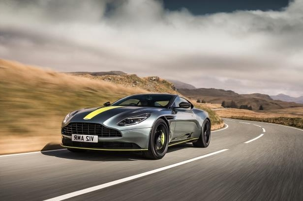 Slide 60 of 90: 2019-Aston-Martin-DB11-AMR-Signature-Edition-front-three-quarter-in-motion-01.jpg