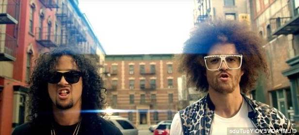 a person wearing a hat: Party Rock! Redfoo was one half of American electronic dance music duo LMFAO, partnering with his nephew SkyBlu (R) from 2008 to 2012