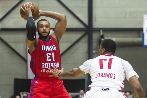 Slide 28 of 53: Zeke Upshaw of the Grand Rapids Drive looks to pass the ball against the Maine Red Claws at the DeltaPlex Arena on December 23, 2016 in Walker, Mich.