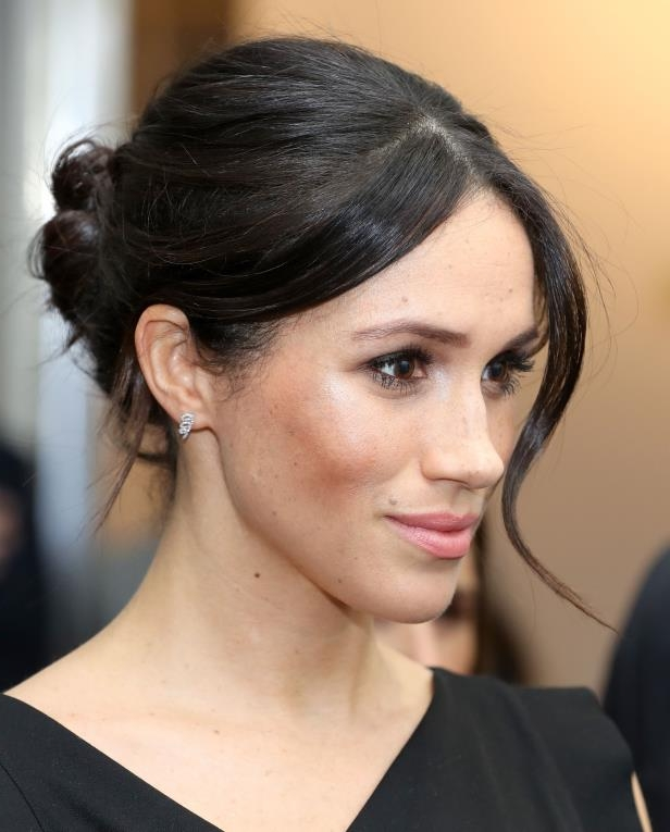 Meghan Markle attends a women's empowerment reception at the Royal Aeronautical Society in London during the Commonwealth Heads of Government Meeting.