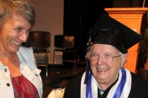 B.C.'s oldest ever high-school grad collects her diploma at 92
