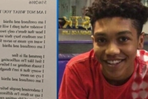 Teen shot dead by police wrote now-haunting poem about violence