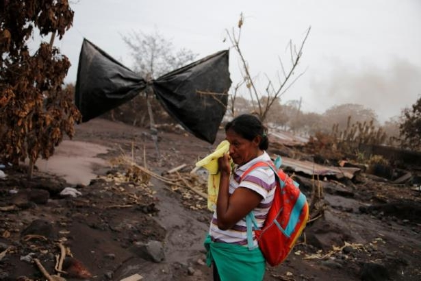The Wider Image: Woman digs for family lost under Guatemalan volcano